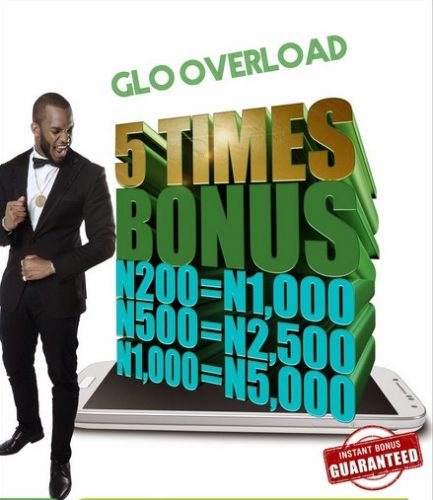Glo Overload Data Plans And 400% Airtime Bonus