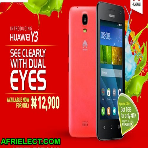 Huawei Y3 Smartphone Specifications And Price
