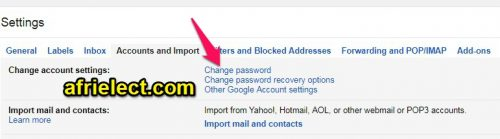 Change Gmail Password Easily