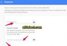 Reset Change Google Password